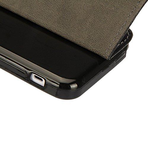 iPhone 6S Hülle, iPhone 6 Hülle, iPhone 6 / 6S PU Leder Relief Hülle Tasche Handyhülle, iPhone 6 / 6S Ledertasche im Bookstyle Brieftasche Flip Case mit Silikon Backcase, SainCat Premium Design Luxus  Schädel
