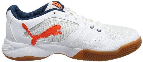 Puma  Ballesta Wn's,  Scarpe sportive indoor donna Bianco (Weiß (white-fluo peach-poseidon 01))