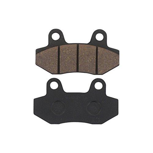 elektro mokick Xfight-Parts Bremsbelag Satz vorne ohne Widerlager Bremszange (Doppelkolben) 77.3x42.2x7mm 4Takt 125ccm YY125T-28 Kreidler Hiker 50 Elektro