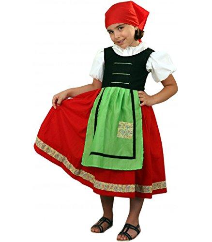 Imagen de disfraz de pastora roja en varias tallas para niña