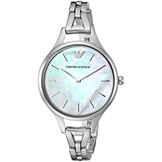 Emporio Armani Analog Mother of Pearl Dial Women's Watch-AR11054