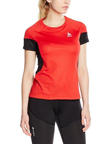 Odlo T-Shirt da donna a maniche corte Versilia, Donna, Laufshirt T-shirt Short Sleeve VERSILIA, lollipop-Black, S