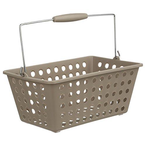 INSTANT D O Badezimmer-Korb mit Griffen–Taupe