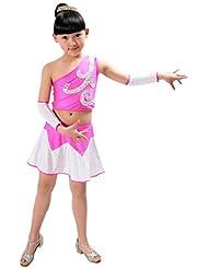 Jeune Shinning Robe à sequins Gymnastique / 130cm Hauteur Enfants / Rose Rouge