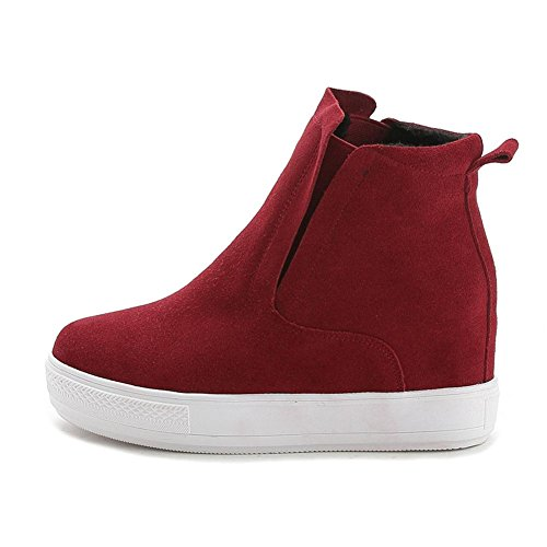 Donna caviglia alto stivali scarpe cadere inverno nero macchia Spessore inferiore Nike Dunk Sky Ciao partito lavoro Red