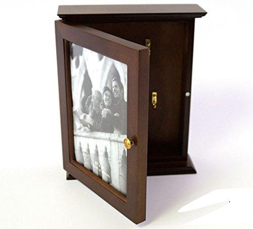 Charming House Design groß Holz Schlüssel Rack Schrank mit Bilderrahmen und 5Haken