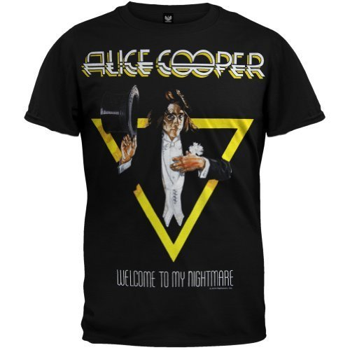 Old Glory Alice Cooper - Uomo Welcome To My Nightmare T-Shirt Large Nero