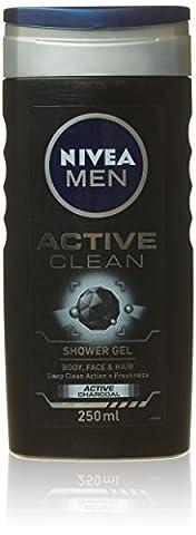 Nivea For Men Active Clean Shower Gel Body Wash 250ml
