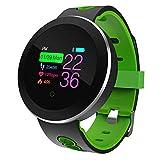 SanQing Sport Smart Watch, IP68 Impermeabile Fitness Tracker con Touch Screen Miglior pedometro per Il Polsino e cardiofrequenzimetro Monitoraggio della frequenza cardiaca,Green