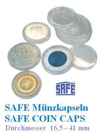 25 SAFE moneta capsule octavator 26 - ideale per 2 EURO monete - coin octavator - monete capsule