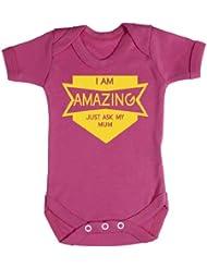 Baby Buddha - Amazing Just Ask My Mum Baby Bodys / Strampler 100% Baumwolle