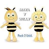 PELUCHILANDIA Pack Abeja Maya y Willy de Peluche con licencia original