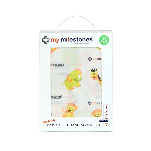 My Milestones Disposable Changing Mat Set - Pack of 12