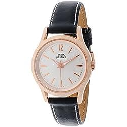 THINKPOSITIVE, Mens watch, Model SE W 130 R Big Milano Rosè, Imitation leather strap, Unisex, Color black