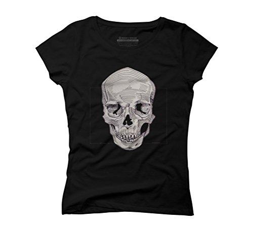 Skull Women's Graphic T-Shirt - Design By Humans Black