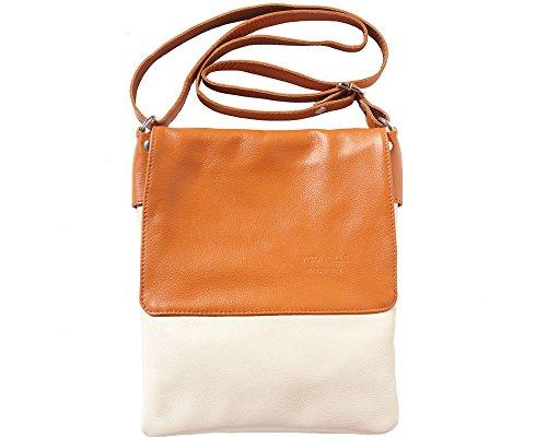 LaGaksta Ashley II Umhängetasche aus Leder, Beige (Beige-leather), Medium -