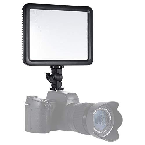 Godox LEDP120C 12W LED Videoleuchte Video Licht Panel Fill-in On-Kamera-Lampe 3200K-5600K Bi-Farbe-Temperatur mit Hot-Schuh-Adapter für Cannon Nikon Sony Digital DSLR Kamera Studio Fotografie
