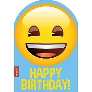 Emoji Smiley Happy Birthday Card By Amazonde Burobedarf Schreibwaren