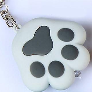 GEZICHTA LED-Licht Cat Paw Schlüsselanhänger mit Sound Lover Geschenk Kind Spielzeug Katze Spielzeug Key Ring Taschenlampe Schlüsselanhänger Taschenlampen, Grau