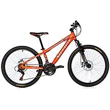 "Moma Bikes Montaña Mountainbike 24"" BTT Shimano, Aluminio, Doble Disco y Suspensión Bicicleta, Naranja, No"