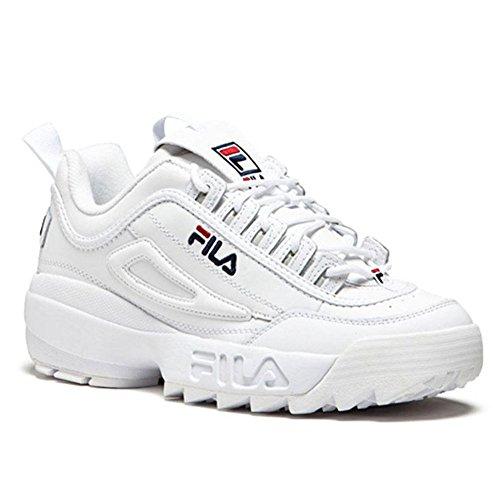 FlLA Baskets FILA Disruptor II 2 Low Chaussures Décontractées Femme Blanc (38)
