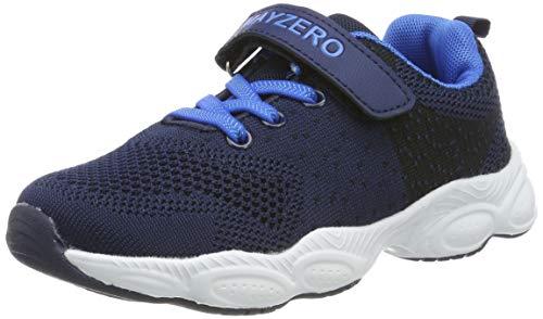 MAYZERO Unisex-Kinder Sneakers Laufen Schuhe Sportschuhe Sneakers Jungen M?dchen Low-Top Sneakers, Dunkelblau#1, 34 EU