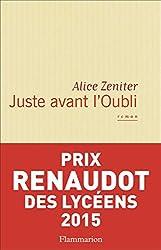 Juste avant l'Oubli (Littérature française)
