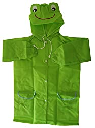 My Baby Things Green Frog Unisex Raincoat (Green, 6-7 Years)