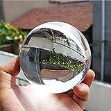 Practical New Quartz Clear Magic Artificial Crystal Glass Healing Ball Sphere 40mm