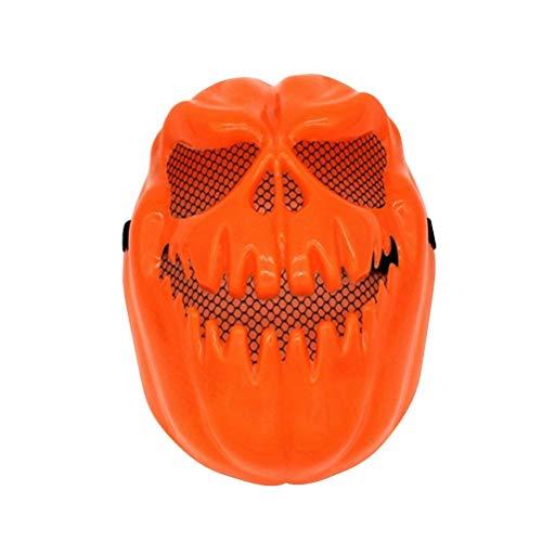 Upstudio Persönlichkeit Urlaub Gruselige Kürbis Maske Halloween Dekorative Gesichtsmaske Terror Geist Party Vollgesichtsmaske Halloween Kostüme (Orange) Party bevorzugt Dekorationen