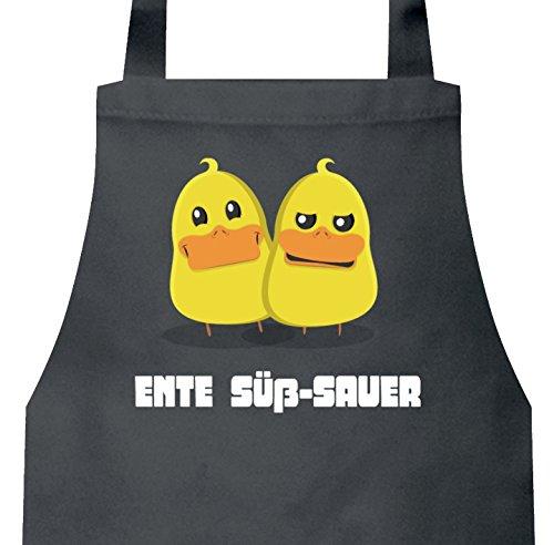 ShirtStreet lustiges Ostergeschenk Ostern Easter Barbecue Baumwoll Grillschürze Kochschürze Ente Süß-Sauer, Größe: onesize,Dark Grey -