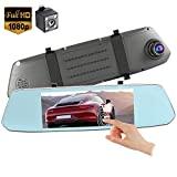 Mirror Dash Cam,Backup Camera 7Inch Mirror Dash Cam Touch Screen 1080P Rearview Front