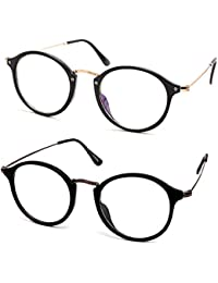Stacle Anti-Reflective Retro Round Unisex Spectacle Sunglasses (ST8508 53 Multiple Colours)