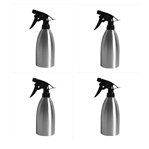 MagiDeal 4pcs Arrosoir Pulvérisateur à Pression en Inox Vaporisateur pour Arrosage de Plante Fleur Coiffure Ménage 500ml