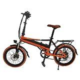 Wheel-hy E-Bike Elektro Faltrad mit 48V 8.8Ah Akku, 20' Klapprad mit 7 Gang Shimano Kettenschaltung, Bafang Heckmotor, Elektrofahrrad schwarz