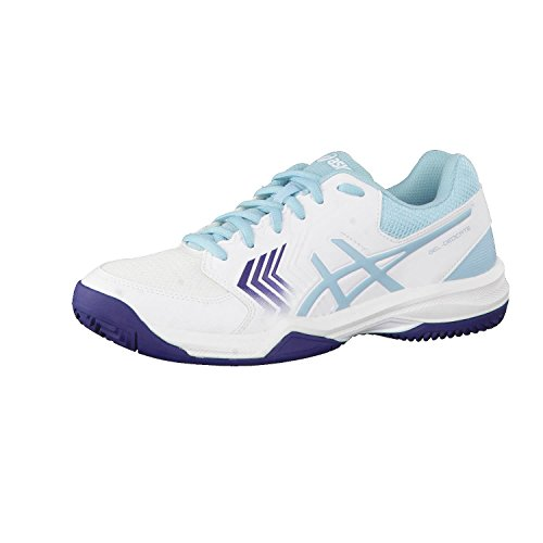 san francisco 8b336 d0ab2 Asics Gel-Dedicate 5 Clay, Scarpe da Tennis Donna Multicolore  (White Porcelain