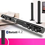 Bluetooth détachable Soundbar 50W sans Fil stéréo Subwoofer Haut-Parleur TV Home...