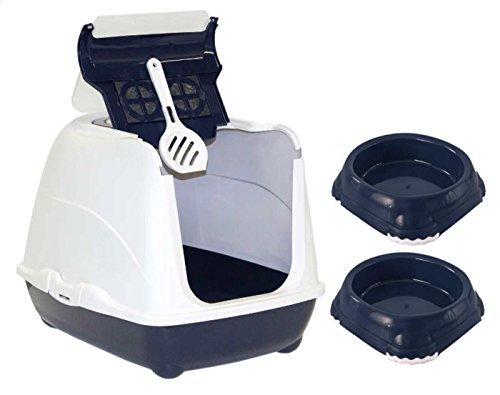 dark-blue-cat-flip-litter-tray-2-bowls-02l-scoop-box-hooded-toilet-filter-bowl