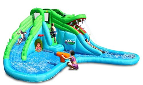 Duplay� Crocodile Double Water Slide and Paddling Pool