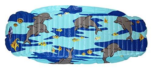 Bath and Wellness Badematte Anti-Rutsch 130 x 55 cm Extra lange Badewanneneinlage Kinder Badewannen-Matte Rutschfest