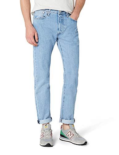 Levi's 501 original straight fit, jeans uomo, blu (onewash 0101), w34/l36