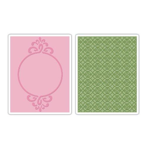 Wedding Frame-set (Sizzix Textured Impressions Prägefolder 2tlg - Circle Frame & Sparkling Set)