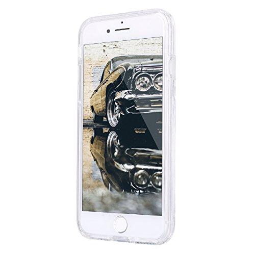 2017 Ekakashop iphone 7 4.7 pollici Custodia, 2-in-1 ultra sottile-Fit molle flessibile di caso Cover posteriore per iphone 7, Ragazza Ragazzo Crystal Clear Soft Cover gel TPU Silicone Protezione Sott B #20