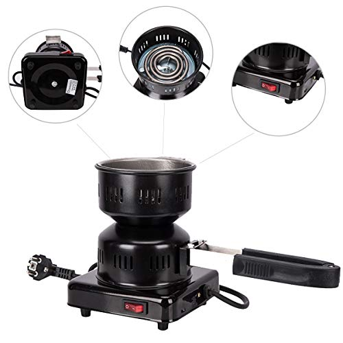 Kertou Electric Shisha Coal Encendedor Quemador de carbón Calienta hasta 600W / 1000W Hot Plate Burner...