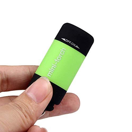 USB wiederaufladbare LED Taschenlampe Lampe Mini Taschenlampe Schlüsselbund Mini-Taschenlampe 0.3W 25Lum Home Outdoor Außenbeleuchtung Sport Fahrrad Klettern Nachtlicht Green