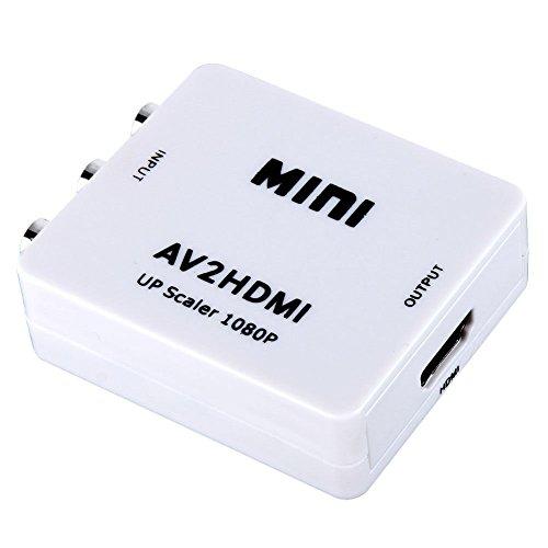 Kuyia RCA/CVBS 3RCA composite video Mini AV a HDMI convertitore/adattatore/RCA mini box per