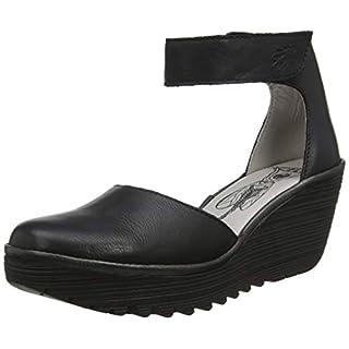 Fly London Women's YAND709FLY Ankle Strap Heels, (Black Sole) 011, 4 (37 EU)