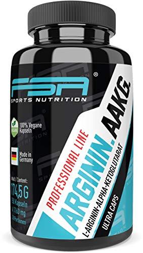 Arginin AAKG 150 Kapseln, 1000 mg pro Kapsel, Vegan, Pre Workout und Pump Booster - Made in Germany - FSA Nutrition