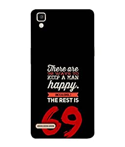 Fuson Designer Back Case Cover for Oppo F1 :: A35 (One Alcohol Rest 69 Men Quote Gents)