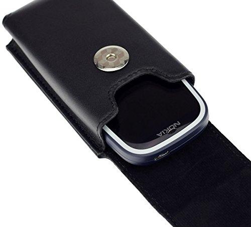 Vertikal Etui für Nokia 3310 (2017) | Köcher Tasche Hülle Ledertasche Vertical Case Handytasche mit einer Gürtelschlaufe auf der Rückseite